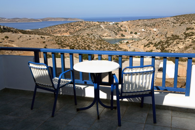 Hotel Iliovasilema - View from room's private balcony